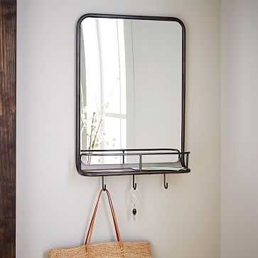 Entryway Mirror + Hooks, Small - West Elm