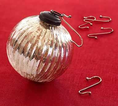Ornament Hooks, Set of 50, Brass Finish - Pottery Barn