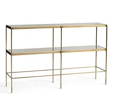 Leona Metal Console Table, Brass - Pottery Barn