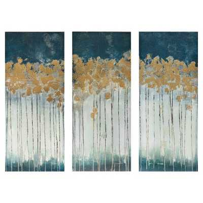 Midnight Forest Gel Coat Canvas with Gold Foil Embellishment 3 Piece Set - Target