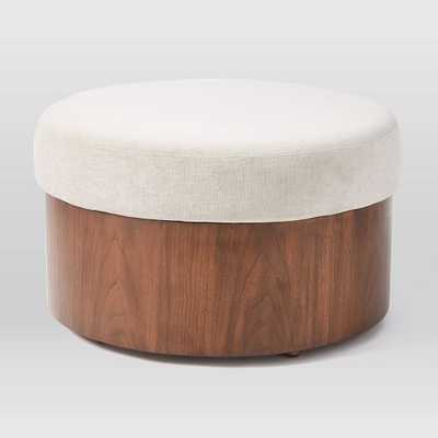 Upholstered Top Storage Ottoman - West Elm