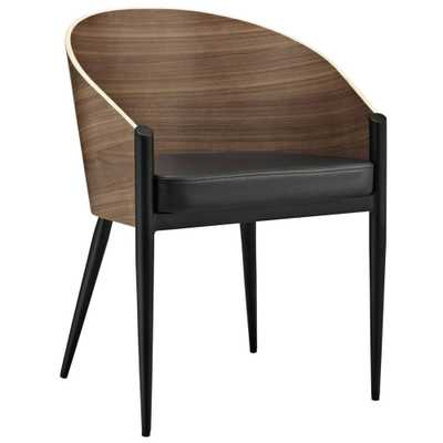 Cooper Dining Wood Armchair in Walnut - Modway Furniture