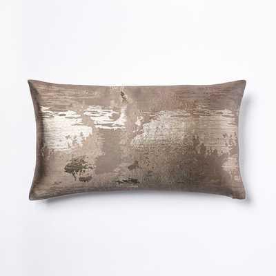 Metallic Clouds Brocade Pillow Cover - Latte - West Elm