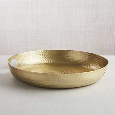 Bash Gold Tray - Crate and Barrel - Crate and Barrel