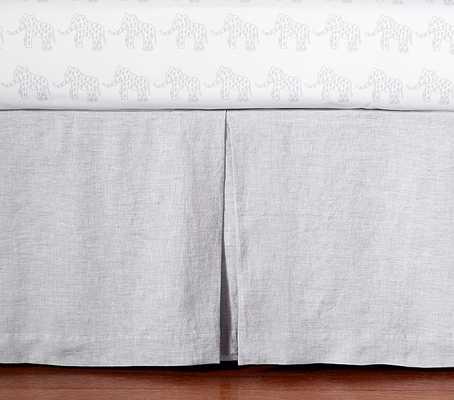 Belgian Flax Linen Baby Bedding - Crib Skirt, Gray - Pottery Barn Kids