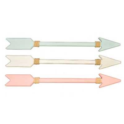 3pk Pink/Mint Green/White Arrow Plaques - Pillowfort™ - Target