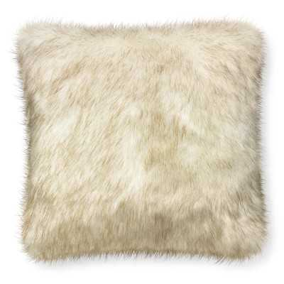 "Faux Fur Pillow Cover, 22"" X 22"", White Sable - Williams Sonoma"