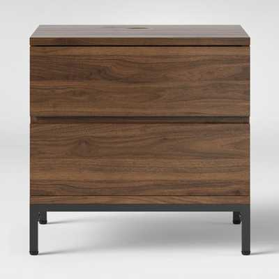 Loring 2 Drawer Nightstand Walnut - Target