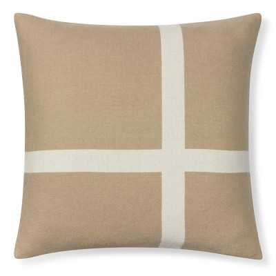 """Cashmere & Wool Equestrian Pillow Cover, 22"""" X 22"""", Sand - Williams Sonoma"""