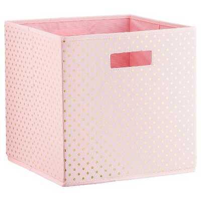 Polka Dots KD Storage Bin Pink - Pillowfort™ - Target