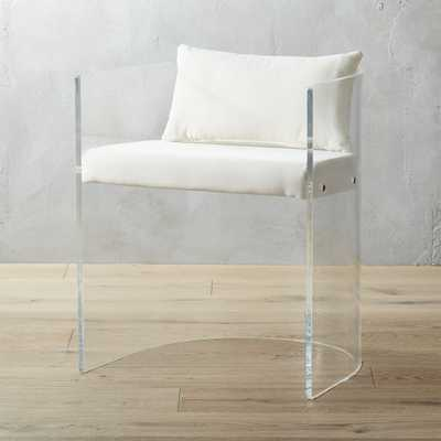 antonio acrylic chair with pillow - CB2
