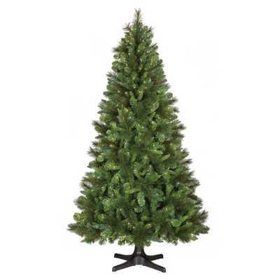 7ft Prelit Artificial Christmas Tree Douglas Fir Clear Lights - Target