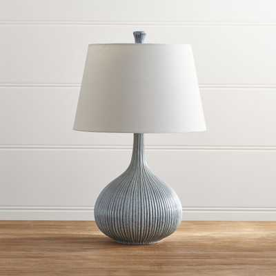 Shaye Blue Table Lamp, Single - Crate and Barrel