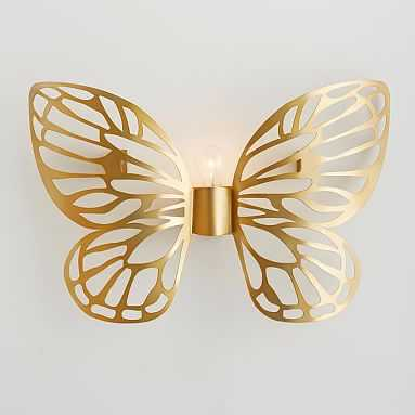Butterfly Sconce, CFL, Gold - Pottery Barn Teen