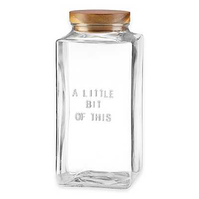 "kate spade new york All In Good Taste ""A Little Bit Of This"" Glass Canister - Bed Bath & Beyond"