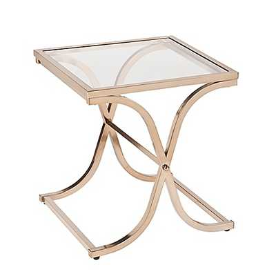 Southern Enterprises Vogue End Table in Champagne Brass - Bed Bath & Beyond