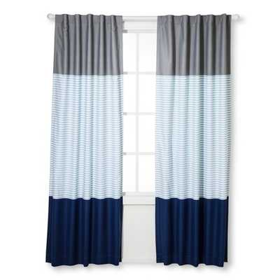Colorblock Striped Curtain Panel - Pillowfort - Target
