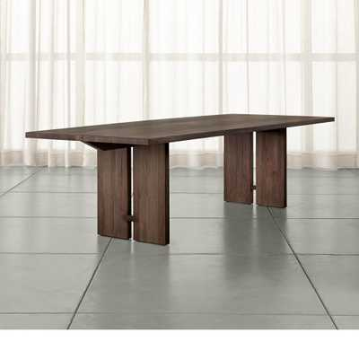 "Monarch Shiitake 92"" Dining Table - Crate and Barrel"