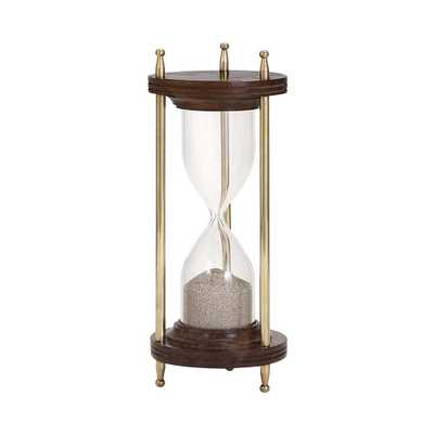 Pratt 8.5 in. x 3.5 in. Glass Metal Hourglass in Bronze - Home Depot
