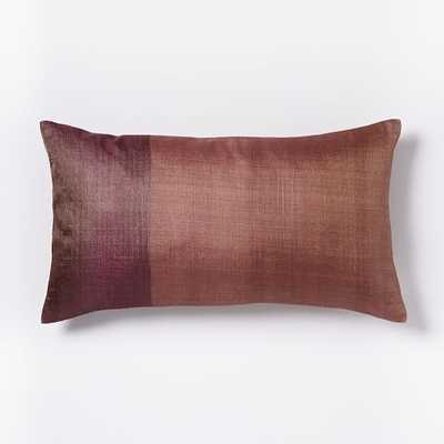 Sari Silk Two-Toned Pillow Cover - West Elm