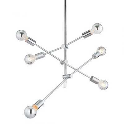 Brixton Ceiling Lamp Chrome - Zuri Studios