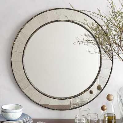 Antique Tiled Round Mirror  Handcrafted - West Elm