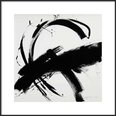 "B + W #1 - 24x24"" - Matte Black Metal Frame with Matte - Artfully Walls"