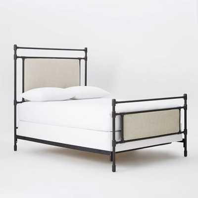 Rhodes Upholstered Metal Bed, King - West Elm