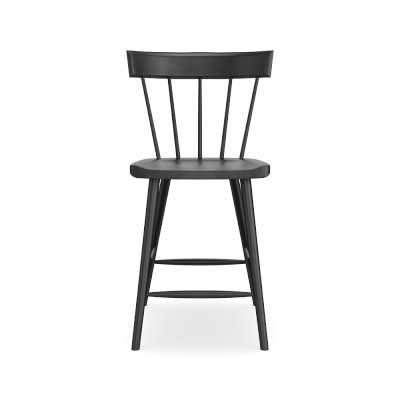 Chatham Counter Stool, Midnight Black - Williams Sonoma