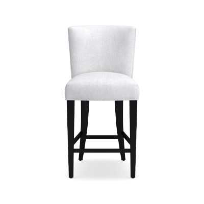 Trevor Counter Stool, Chunky Linen, White - Williams Sonoma