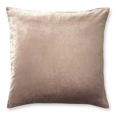 """Velvet Pillow Cover, 22"""" X 22"""", Blush - Williams Sonoma"""