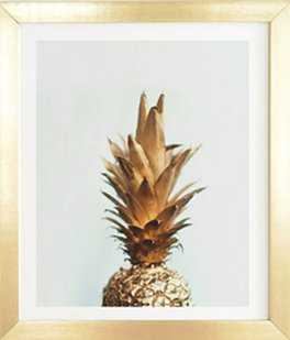 THE GOLD PINEAPPLE Wall Art  - Framed - Wander Print Co.