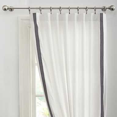 Suite Ribbon Blackout Drape, 52x96, Gray - Pottery Barn Teen