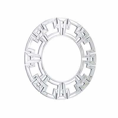 PIERRE SILVER ROUND WALL MIRROR - Abbyson Living