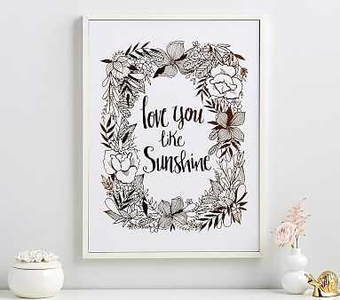 Love You Like Sunshine Gilt Artwork - Pottery Barn Kids