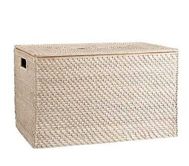 Quinn White Washed Toy Chest - Pottery Barn Kids