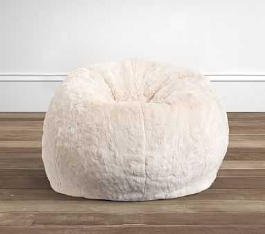 Ivory Faux-Fur Anywhere Beanbag(TM) - Pottery Barn Kids