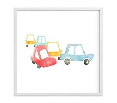 Car Art Wall Art by Minted(R) 11x11, White - Pottery Barn Kids