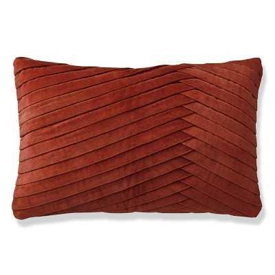 """Pleated Velvet Pillow Cover, 14"""" X 22"""", Bossa Nova - Williams Sonoma"""
