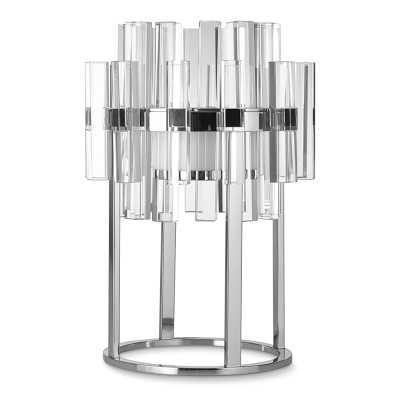 Phoebe Crystal Table Lamp, Polished Nickel - Williams Sonoma
