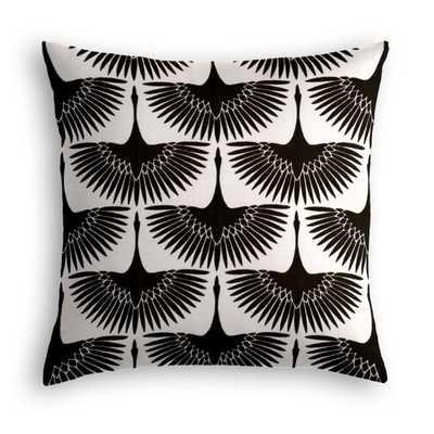 """Wing It Pillow - Down Insert 20"""" x 20"""" - Loom Decor"""