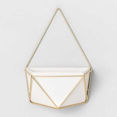 Succulent Wall Geometric Hanging White/Gold - Project 62 - Target