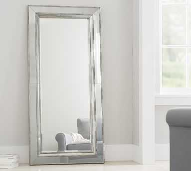 Marlena Antique Mirror Floor - Brushed Silver - Pottery Barn