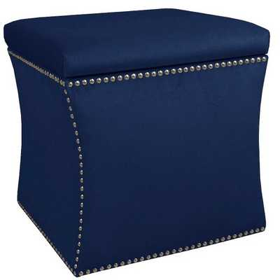 Custom Upholstered Nail Button Storage Ottoman - Skyline Furniture - Target