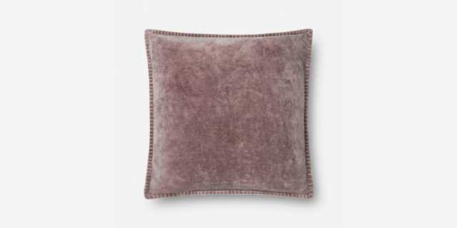 "P0603 PURPLE 22"" x 22"" Pillow Cover with Poly Insert - Loma Threads"