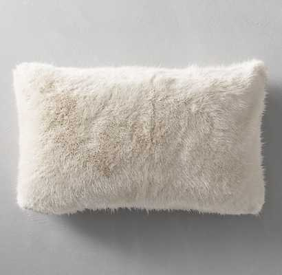 "ULTRA FAUX FUR LUMBAR PILLOW COVER - CREAM - 13"" x 21"" - Insert not included - RH Modern"