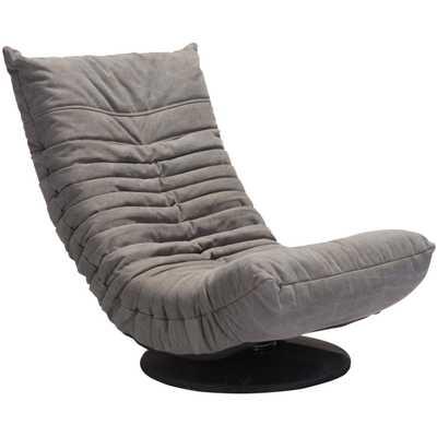 Down Low Swivel Chair Gray - Zuri Studios