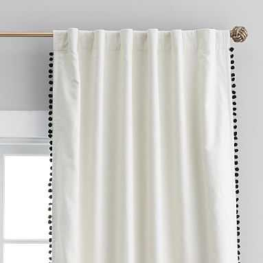 "The Emily & Meritt Pom Pom Blackout Drape, 84"" - Pottery Barn Teen"