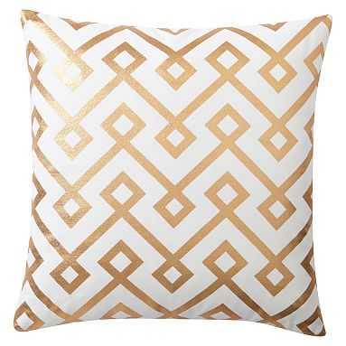 Decorator Foil Pillow Cover, 16 x16, Box Geo - Pottery Barn Teen