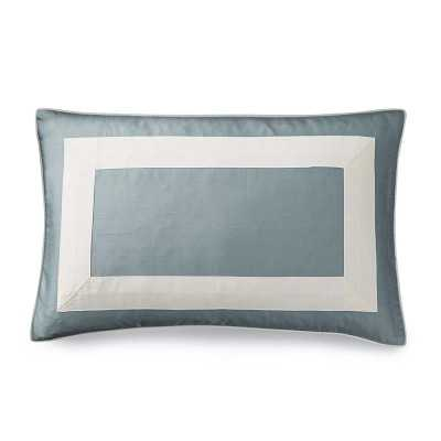 Silk Border Pillow Cover, Blue Dawn - Williams Sonoma